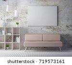 frame mockup on the stony wall... | Shutterstock . vector #719573161