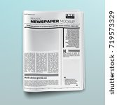 realistic newspaper  magazine ... | Shutterstock .eps vector #719573329