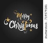 christmas lettering design.... | Shutterstock .eps vector #719579281