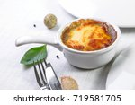 julienne with mushrooms and...