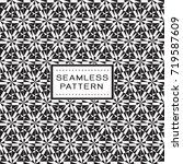 seamless pattern with simple... | Shutterstock .eps vector #719587609