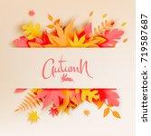 Autumn Leaves Paper Cut Style...