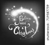 christmas lettering design.... | Shutterstock .eps vector #719587759