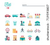 city  transportation  culture ... | Shutterstock .eps vector #719593807