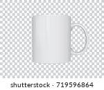 realistic mug mock up vector... | Shutterstock .eps vector #719596864