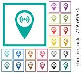 free wifi hotspot flat color... | Shutterstock .eps vector #719599975