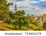 the tower of the cathedral and... | Shutterstock . vector #719601274