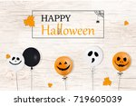 happy halloween. holiday... | Shutterstock . vector #719605039