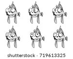 cute fish drawing | Shutterstock .eps vector #719613325
