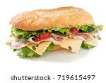 Ciabatta  Sandwich With Salad ...