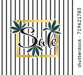 summer sale poster. tropical... | Shutterstock .eps vector #719621785