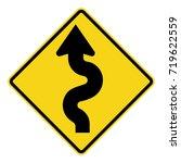 winding road sign | Shutterstock .eps vector #719622559
