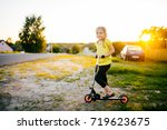 little beautiful girl with... | Shutterstock . vector #719623675