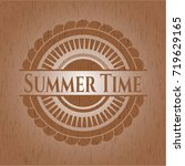 summer time realistic wood... | Shutterstock .eps vector #719629165