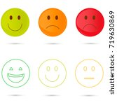 smiley icons. different emotions | Shutterstock .eps vector #719630869