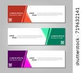 vector abstract design banner... | Shutterstock .eps vector #719632141
