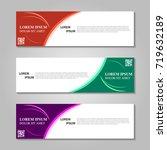vector abstract design banner... | Shutterstock .eps vector #719632189