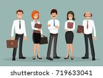 vector illustration of office... | Shutterstock .eps vector #719633041