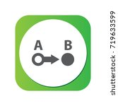 isolated a to b icon symbol on...