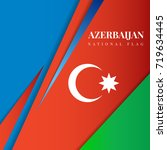 azerbaijan flag vector...
