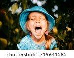 Close Up Portrait Of Little...
