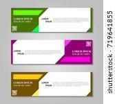 vector abstract design banner...   Shutterstock .eps vector #719641855