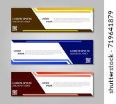 vector abstract design banner... | Shutterstock .eps vector #719641879