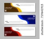 vector abstract design banner... | Shutterstock .eps vector #719641915