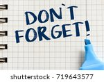 notes about don t forget. | Shutterstock . vector #719643577