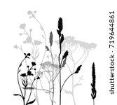 background of field's plants.... | Shutterstock .eps vector #719644861