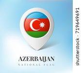 azerbaijan flag map marker... | Shutterstock .eps vector #719649691