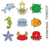 aquarium | Shutterstock .eps vector #71965117