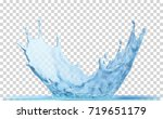 water crown splash  isolated on ...   Shutterstock .eps vector #719651179