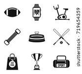 sport battles icons set. simple ... | Shutterstock .eps vector #719654359