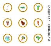brazilia icons set. cartoon...   Shutterstock .eps vector #719655904