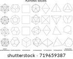3d illustration of platonic... | Shutterstock . vector #719659387