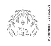 christmas greeting design with... | Shutterstock .eps vector #719663101