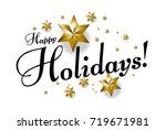 happy holidays  beautiful... | Shutterstock .eps vector #719671981