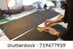 tailor.hands notch tailor... | Shutterstock . vector #719677939