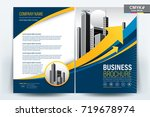 front and back cover of a...   Shutterstock .eps vector #719678974