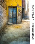 Small photo of Egyptian Alley Door