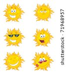 Happy Sun Mascot Cartoon...