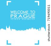 welcome to prague skyline city... | Shutterstock .eps vector #719690011
