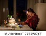 education  freelance  overwork... | Shutterstock . vector #719690767