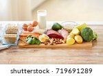 healthy eating and diet concept ... | Shutterstock . vector #719691289