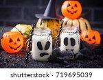halloween ghost like drinks for ... | Shutterstock . vector #719695039