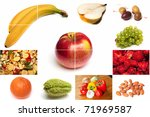 Fruit collage - stock photo