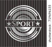 sport silvery emblem | Shutterstock .eps vector #719696155
