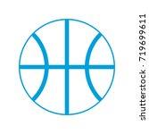 basketball ball icon  | Shutterstock .eps vector #719699611
