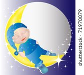 little child with blue head... | Shutterstock . vector #71970079